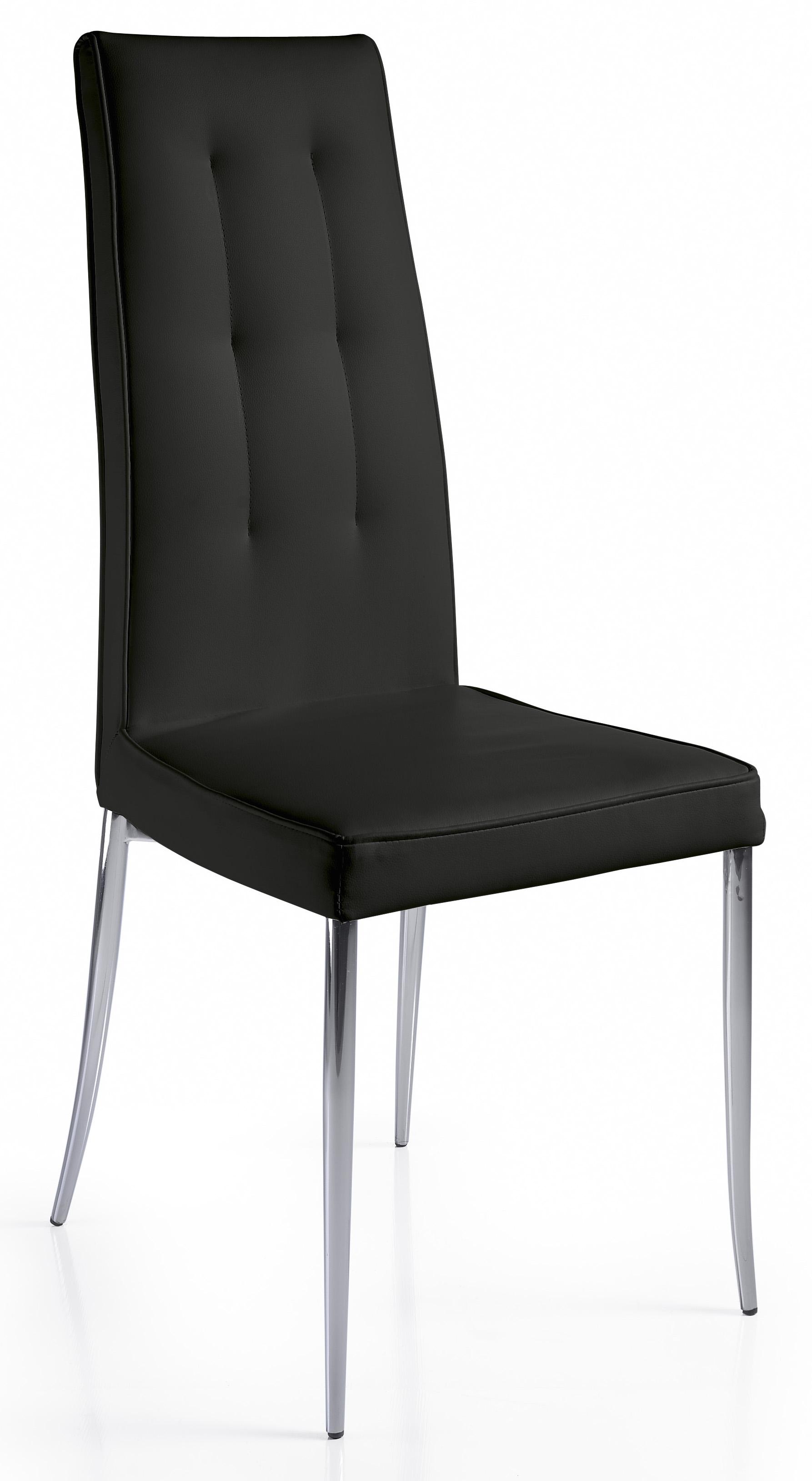 chaise design noir kapa lot de 2. Black Bedroom Furniture Sets. Home Design Ideas
