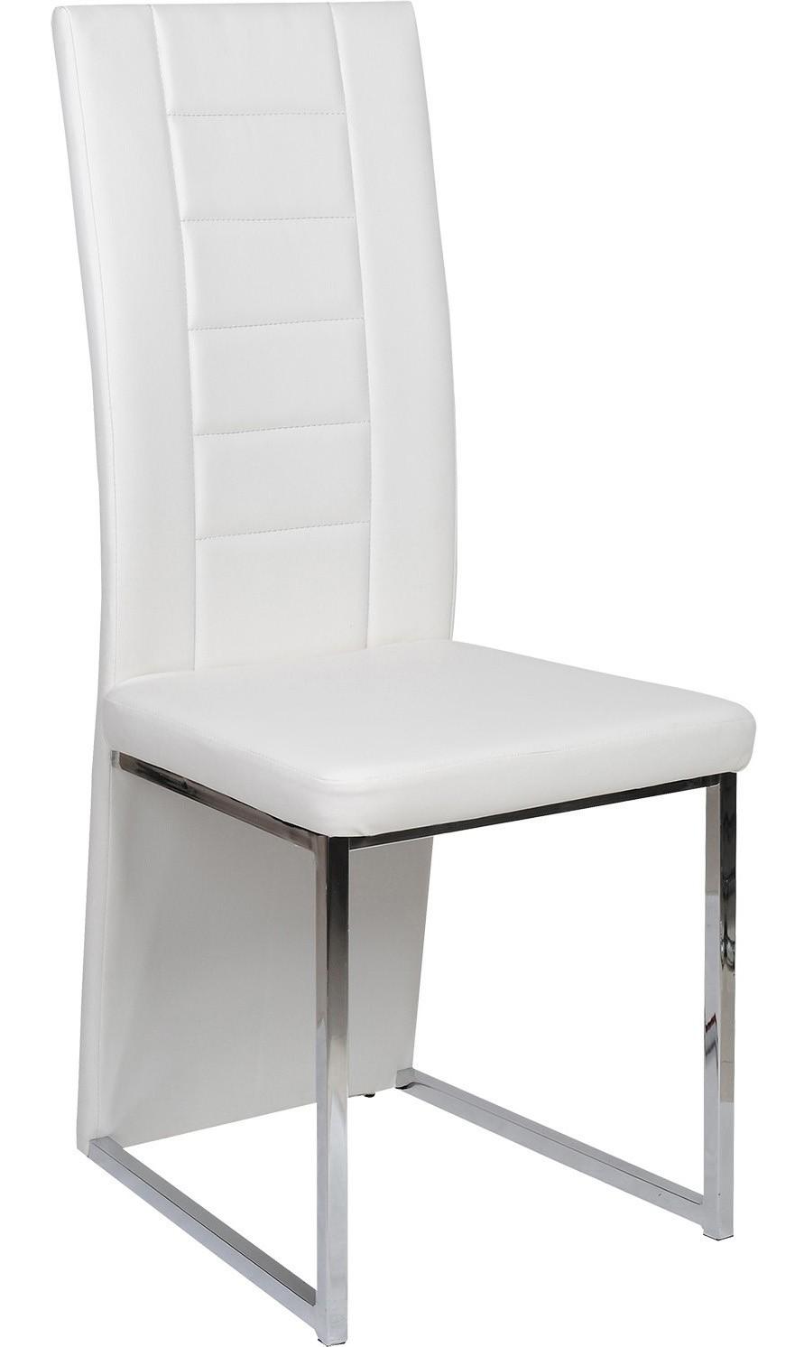Chaise capitonn e blanche tyko for Chaise hauteur assise 48