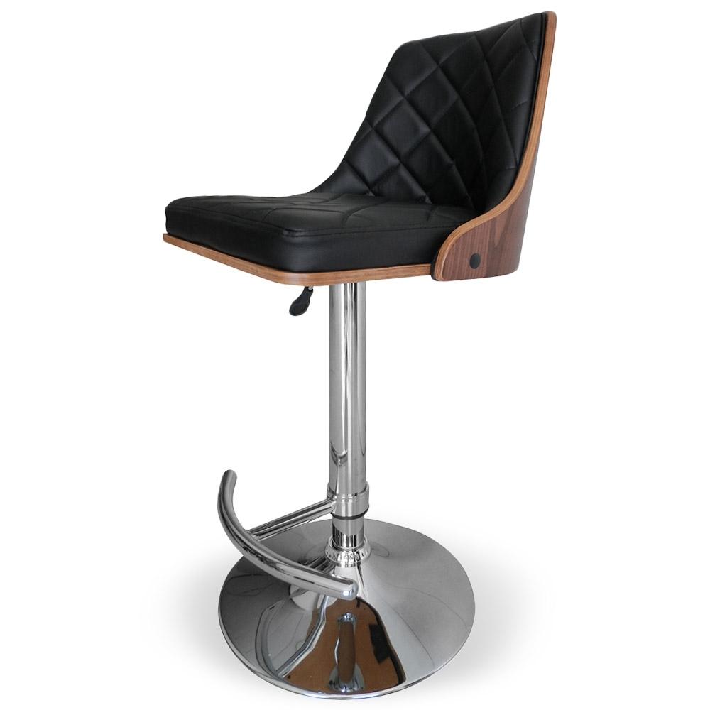 chaise de bar bois noisette et noir sow. Black Bedroom Furniture Sets. Home Design Ideas