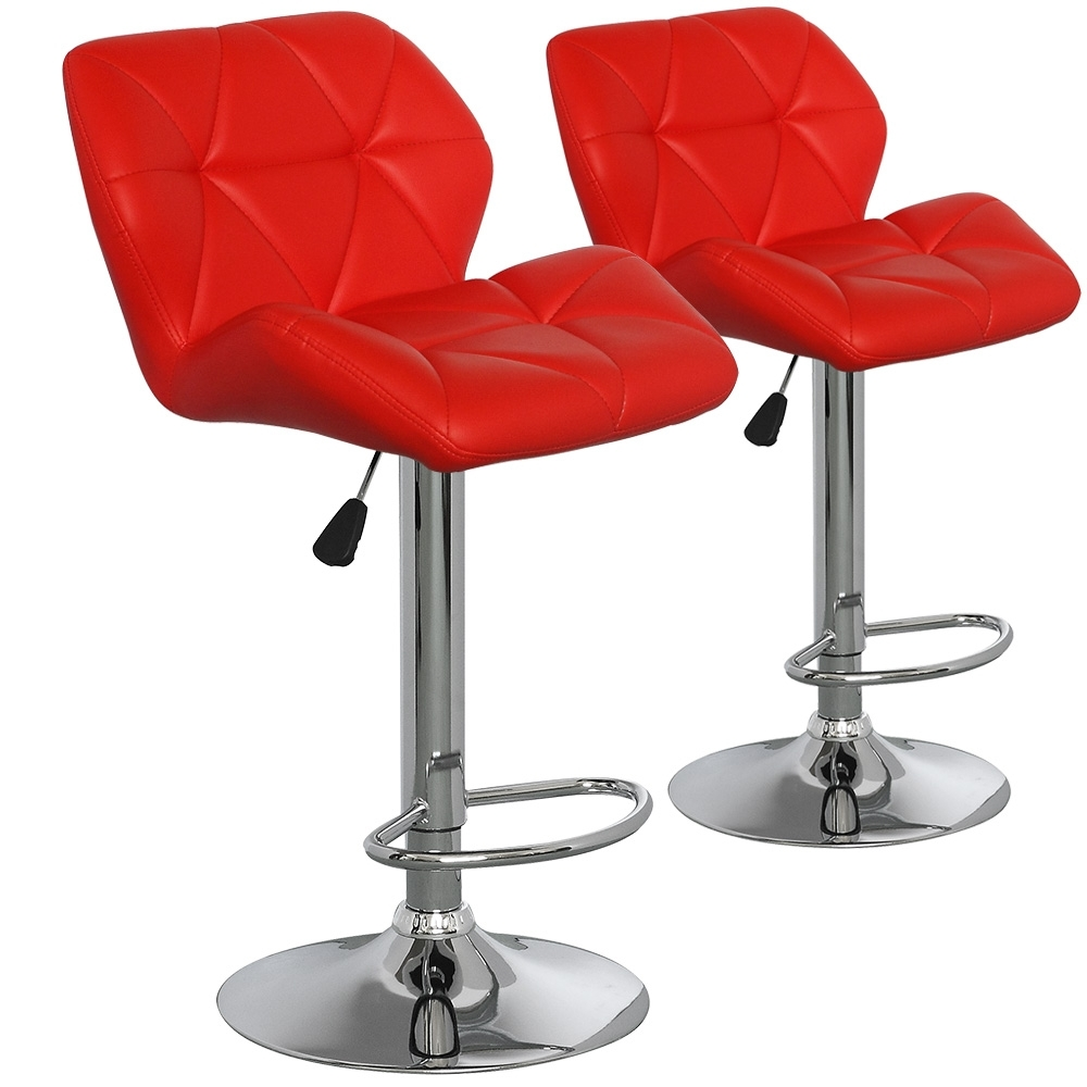 chaise de bar matelass e angela couleur rouge. Black Bedroom Furniture Sets. Home Design Ideas