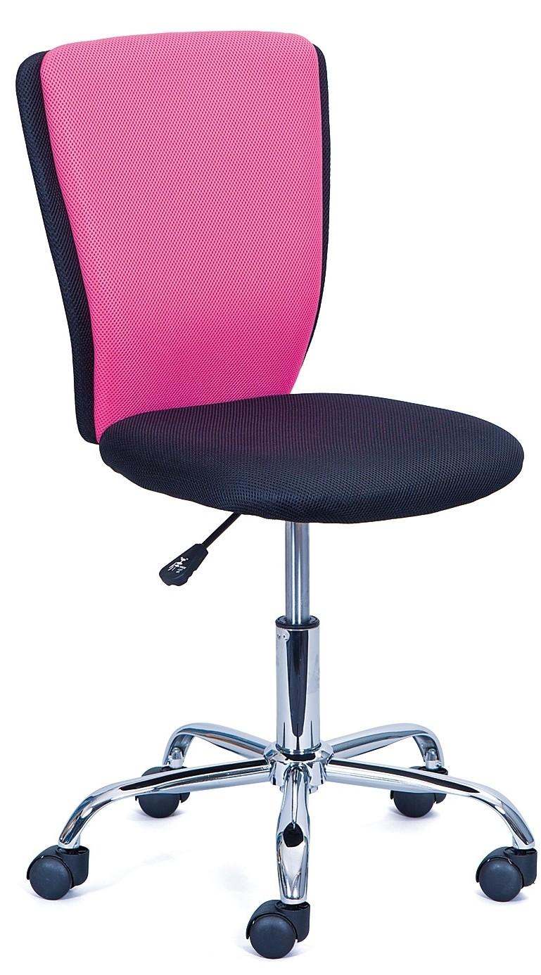 Chaise de bureau enfant rose et noir Tinny  LesTendances.fr