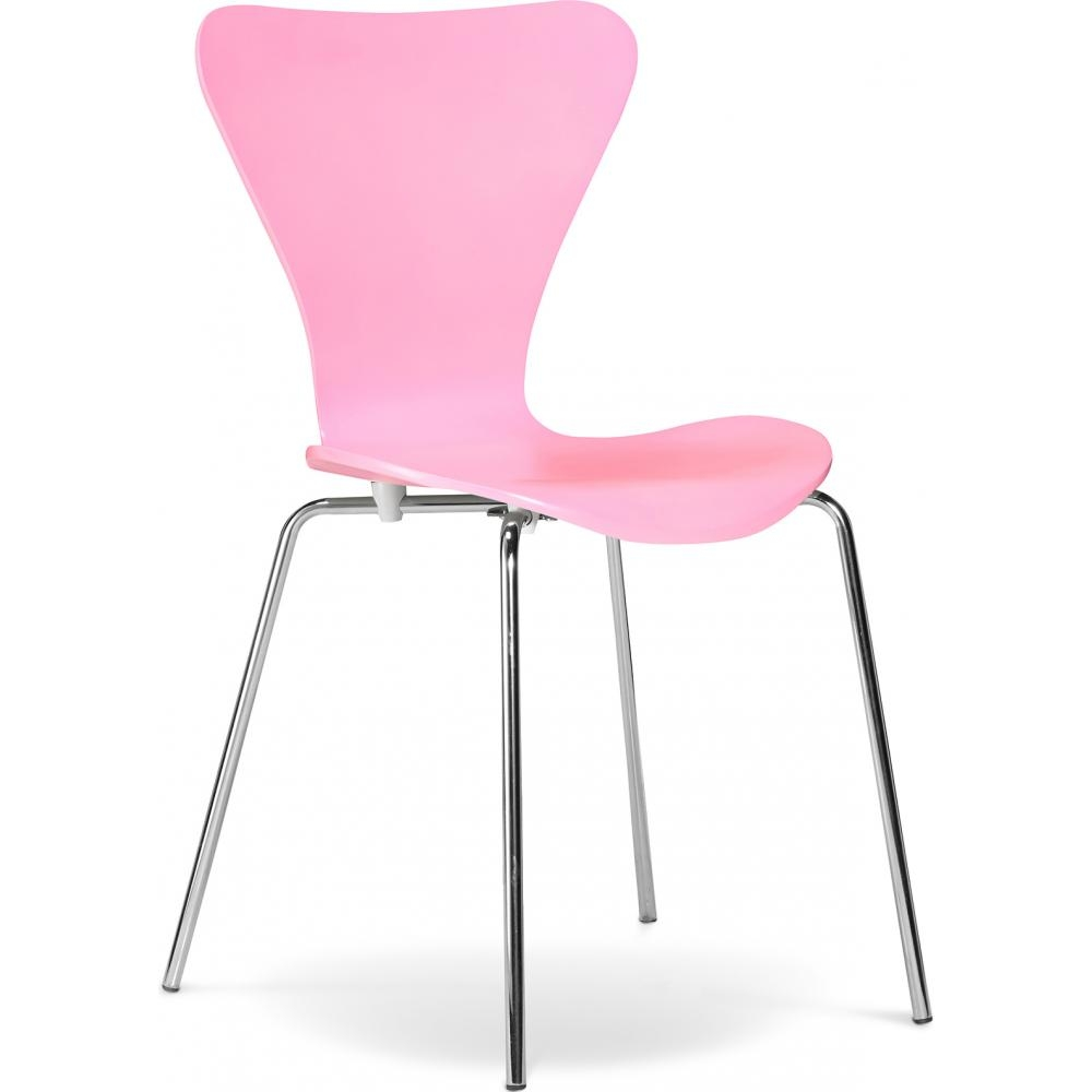 Chaise de cuisine rose inspir arne jacobsen 3107 for Chaise de cuisine plastique