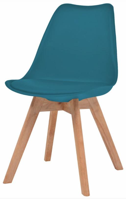 Chaise de salle à manger polypropylène et coussin simili