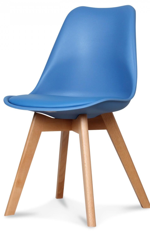 chaise design scandinave bleu roi keny lot de 2. Black Bedroom Furniture Sets. Home Design Ideas