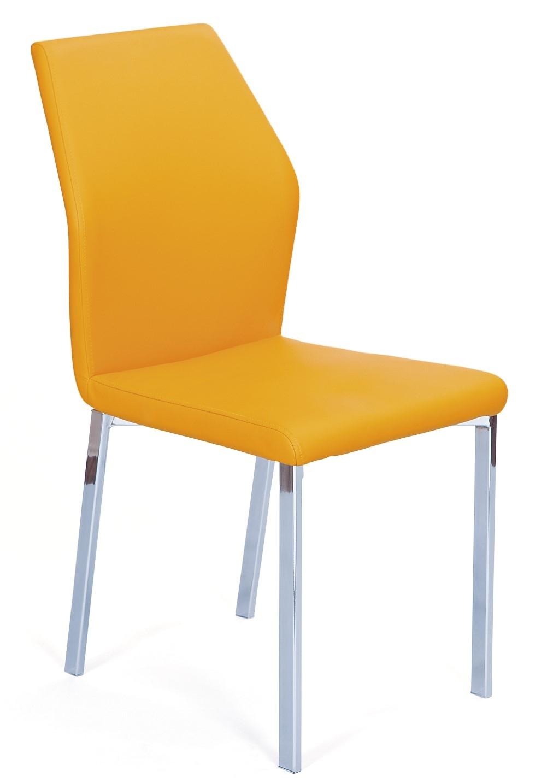 chaise l gante orange val lot de 4. Black Bedroom Furniture Sets. Home Design Ideas