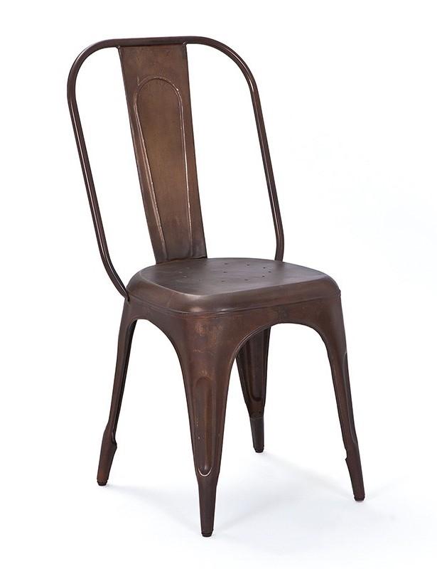 chaise en m tal bronze vieilli urban. Black Bedroom Furniture Sets. Home Design Ideas