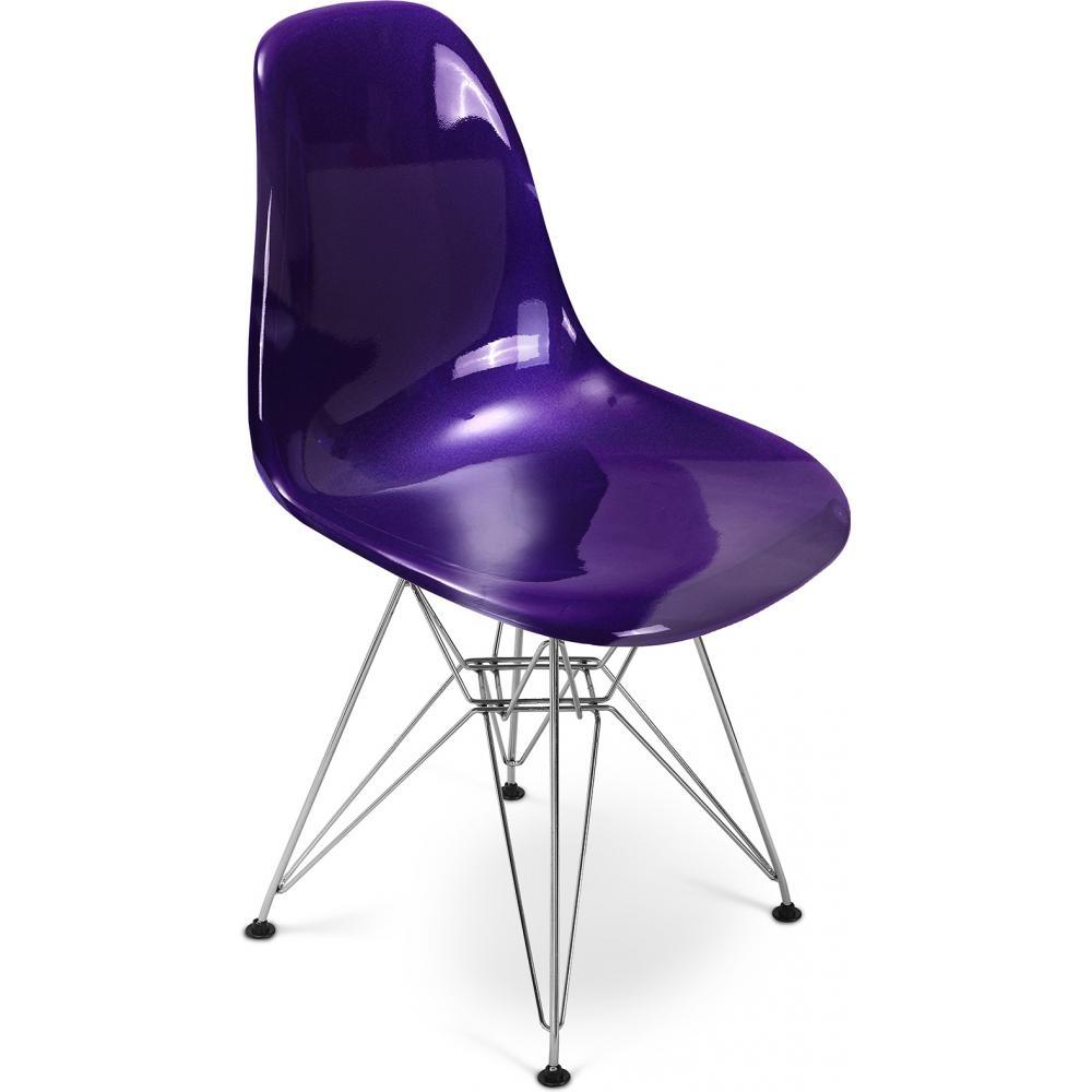 chaise fibre de verre parme brillant inspir e dsr. Black Bedroom Furniture Sets. Home Design Ideas