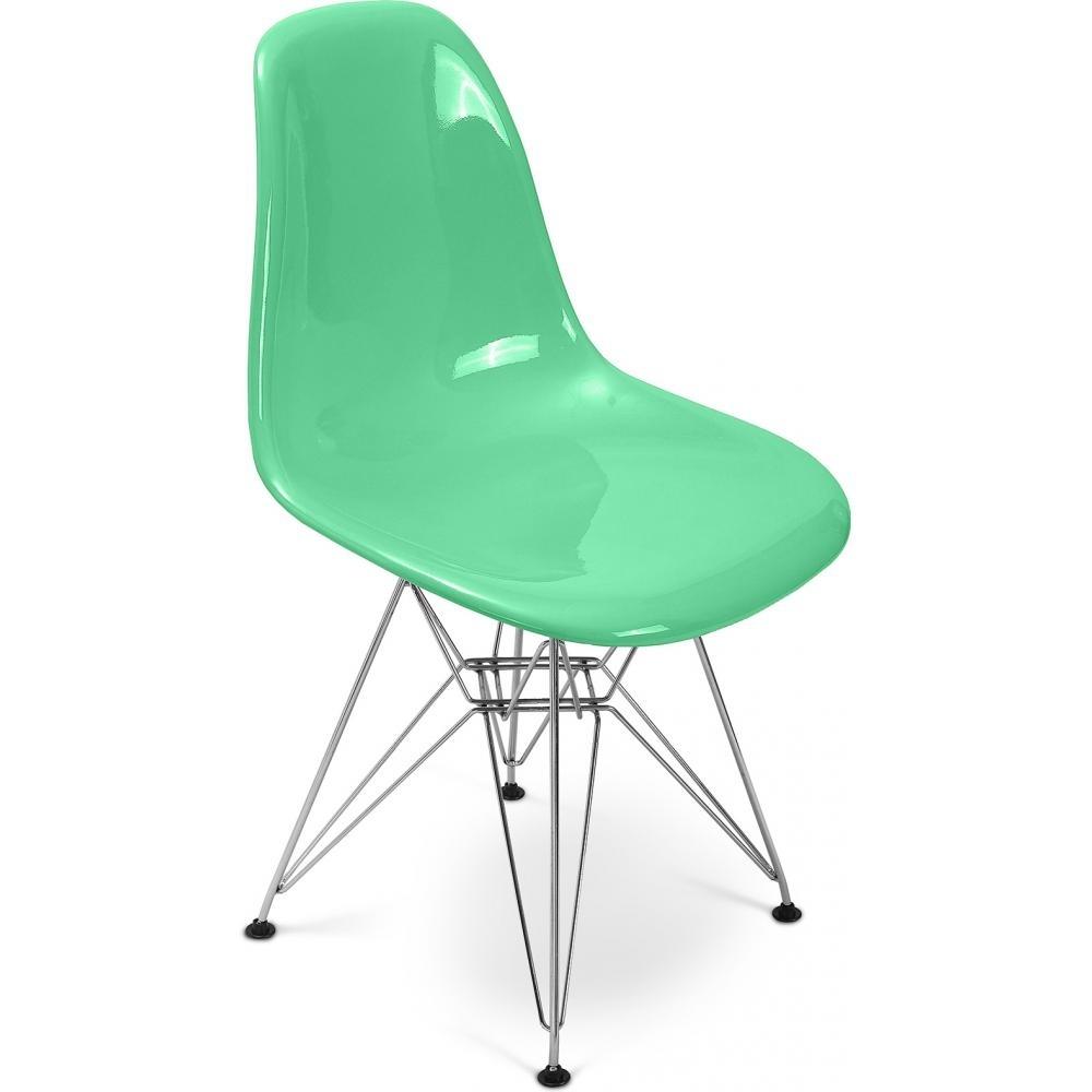 chaise fibre de verre vert pastel brillant inspir e dsr. Black Bedroom Furniture Sets. Home Design Ideas