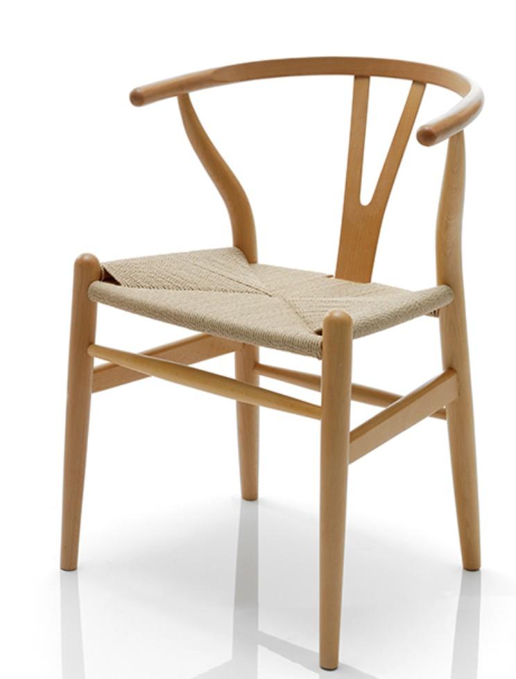 Chaise fr ne naturel naturalia lot de 2 for Chaise hauteur assise 48