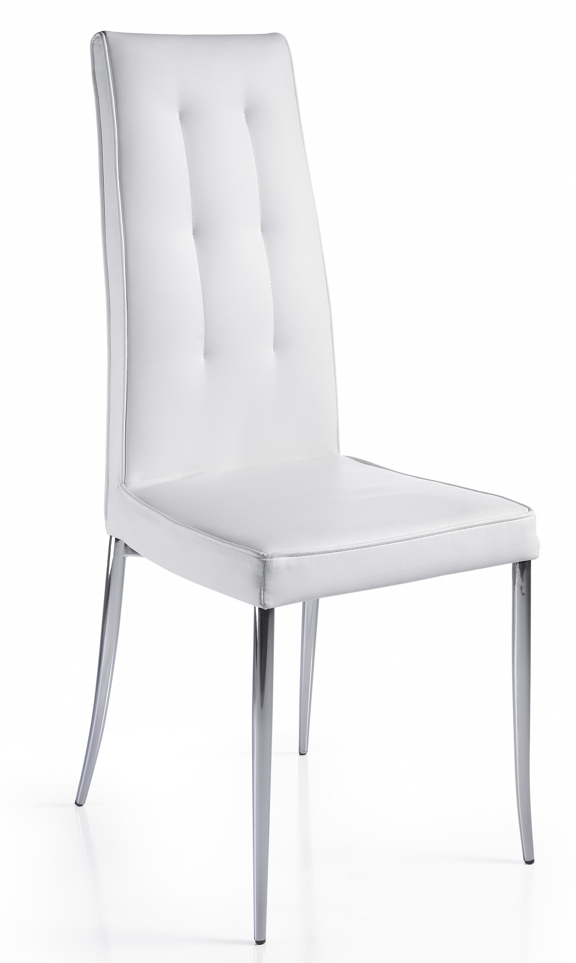 Chaise design blanche kapa lot de 2 for Chaise pvc blanche
