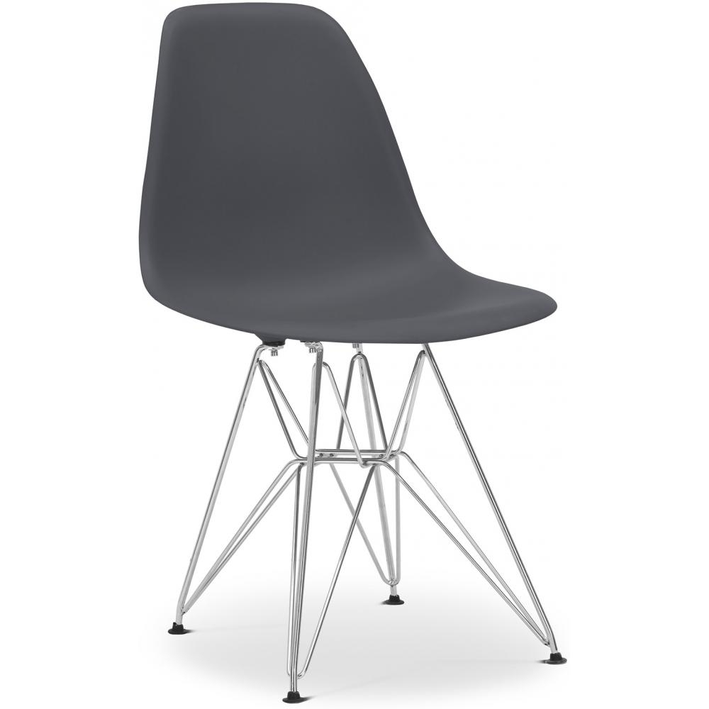 chaise grise inspir e dsr lot de 4. Black Bedroom Furniture Sets. Home Design Ideas