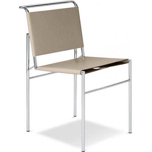 chaise haut de gamme cuir taupe inspir e roquebrune. Black Bedroom Furniture Sets. Home Design Ideas