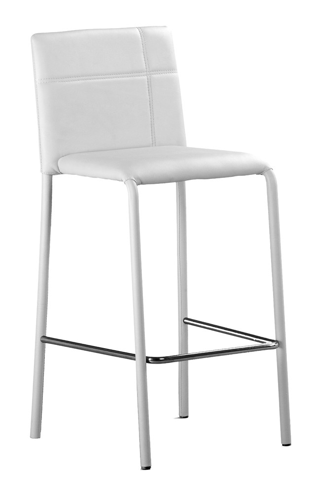 Chaise haute de bar simili blanc majesty lestendances fr