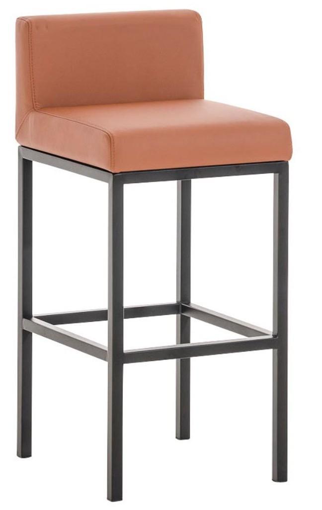 chaise haute m tal noir et simili marron clair kontoir. Black Bedroom Furniture Sets. Home Design Ideas