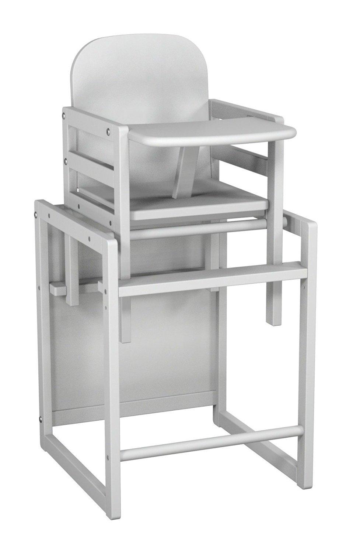 chaise haute transformable h tre blanc atelier t4. Black Bedroom Furniture Sets. Home Design Ideas