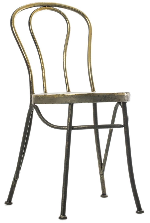 chaise manger industrielle fer champagne mate brinda. Black Bedroom Furniture Sets. Home Design Ideas