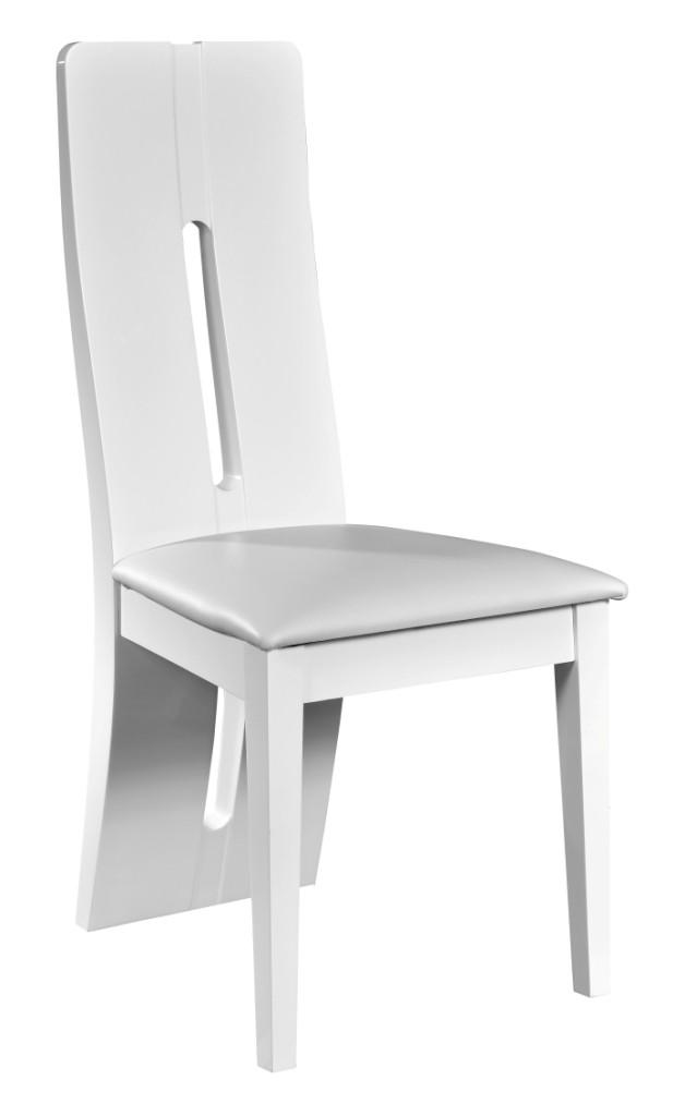 chaise laqu e blanche kartz lot de 2. Black Bedroom Furniture Sets. Home Design Ideas
