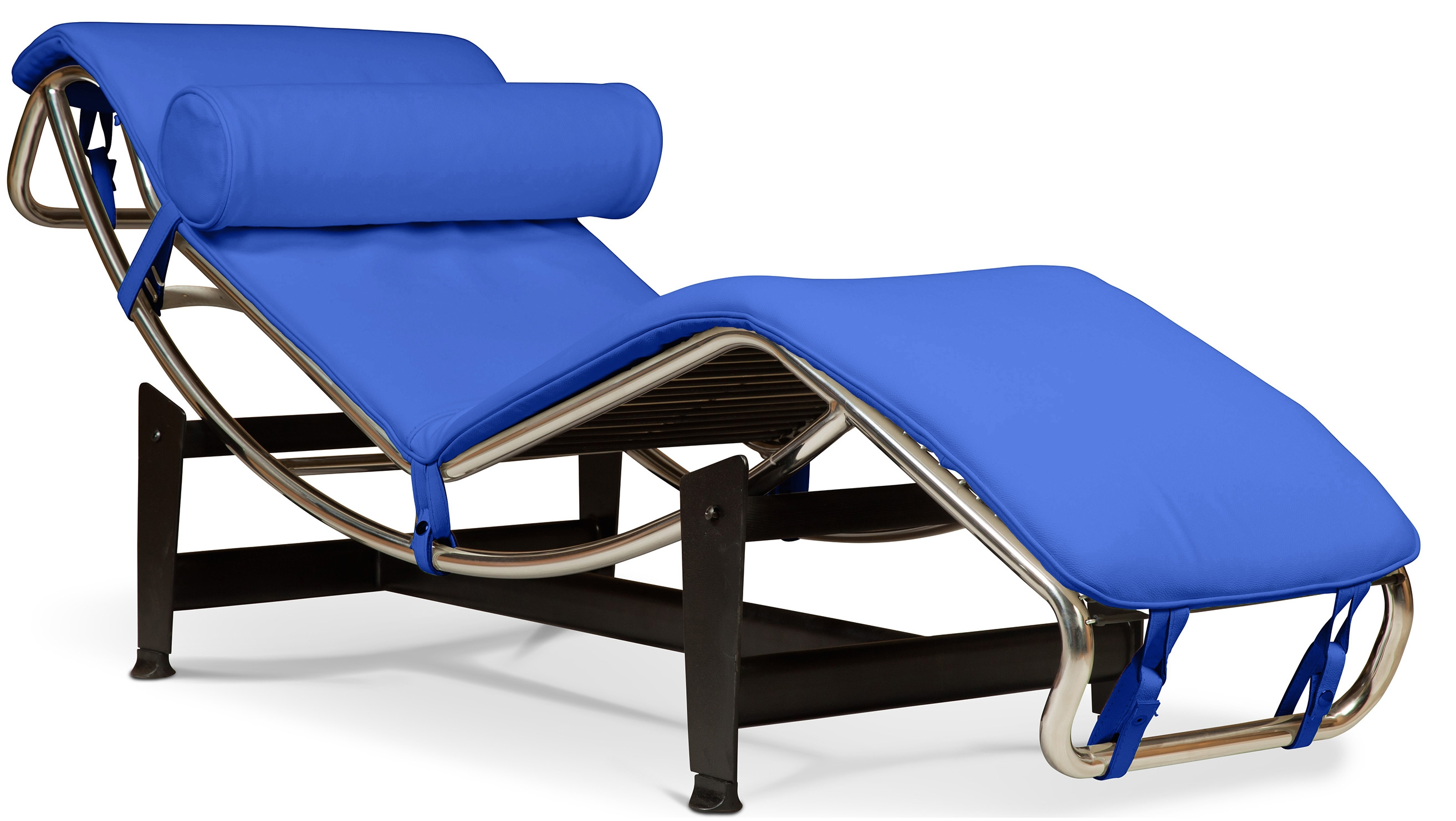 chaise longue simili bleu inspir lc4 de le corbusier. Black Bedroom Furniture Sets. Home Design Ideas