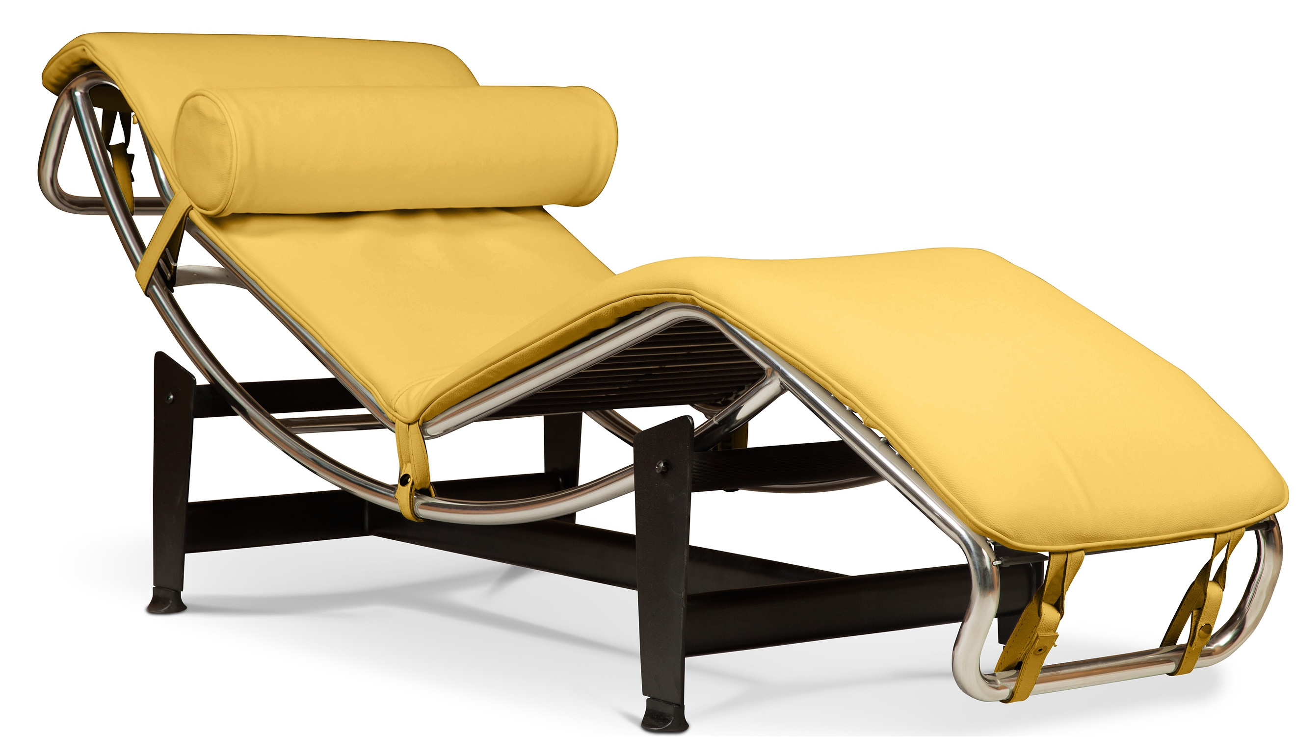 Chaise longue simili jaune karly for Chaise longue fr