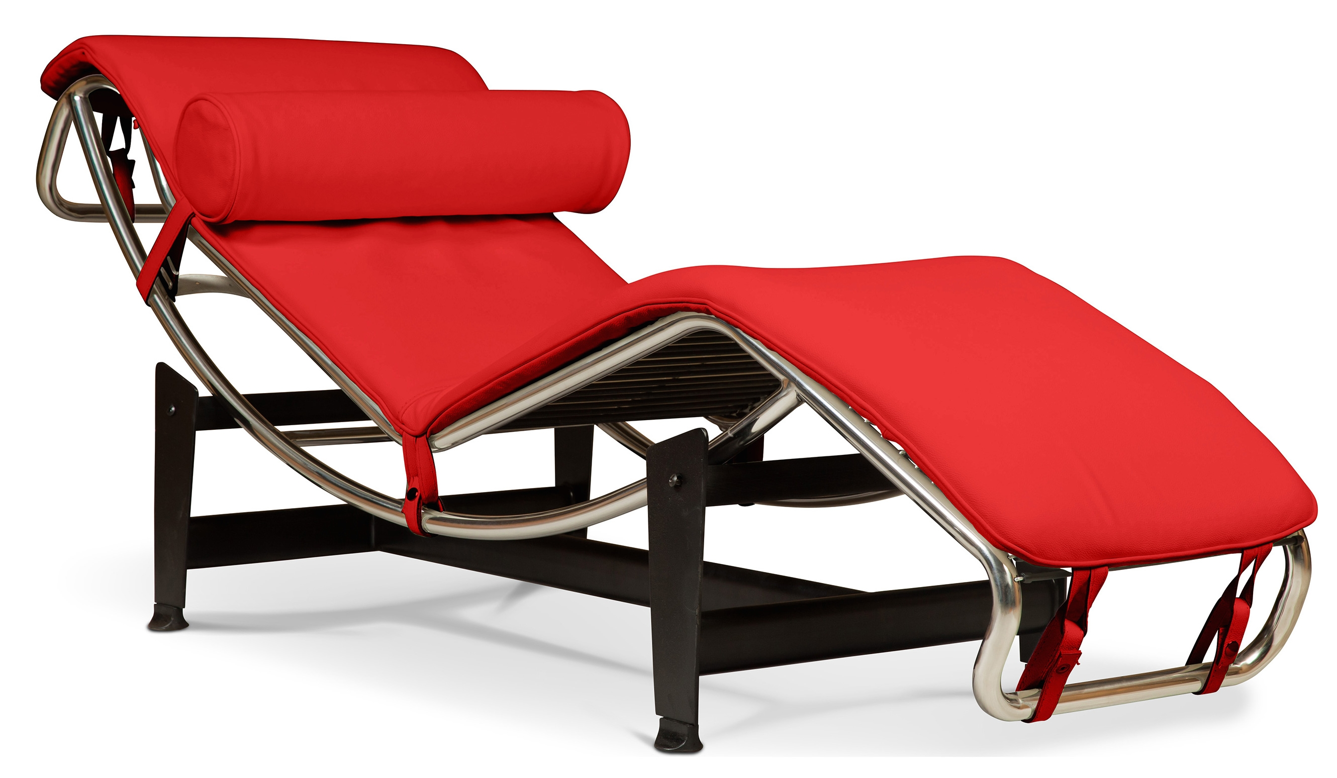 chaise longue simili rouge inspir lc4 de le corbusier. Black Bedroom Furniture Sets. Home Design Ideas