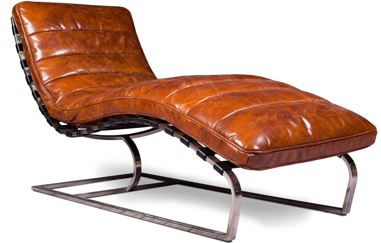 Chaise longue Vintage Cuir prenium