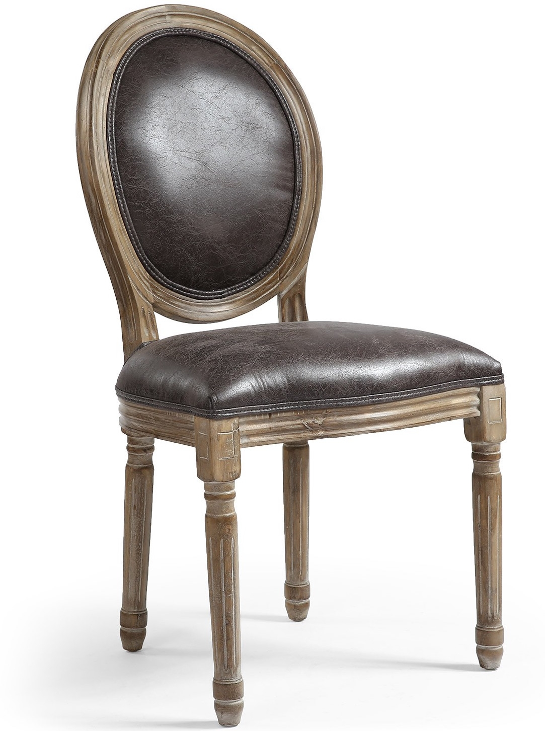 chaise m daillon bois et simili effet vieilli louis xvi lot de 2. Black Bedroom Furniture Sets. Home Design Ideas