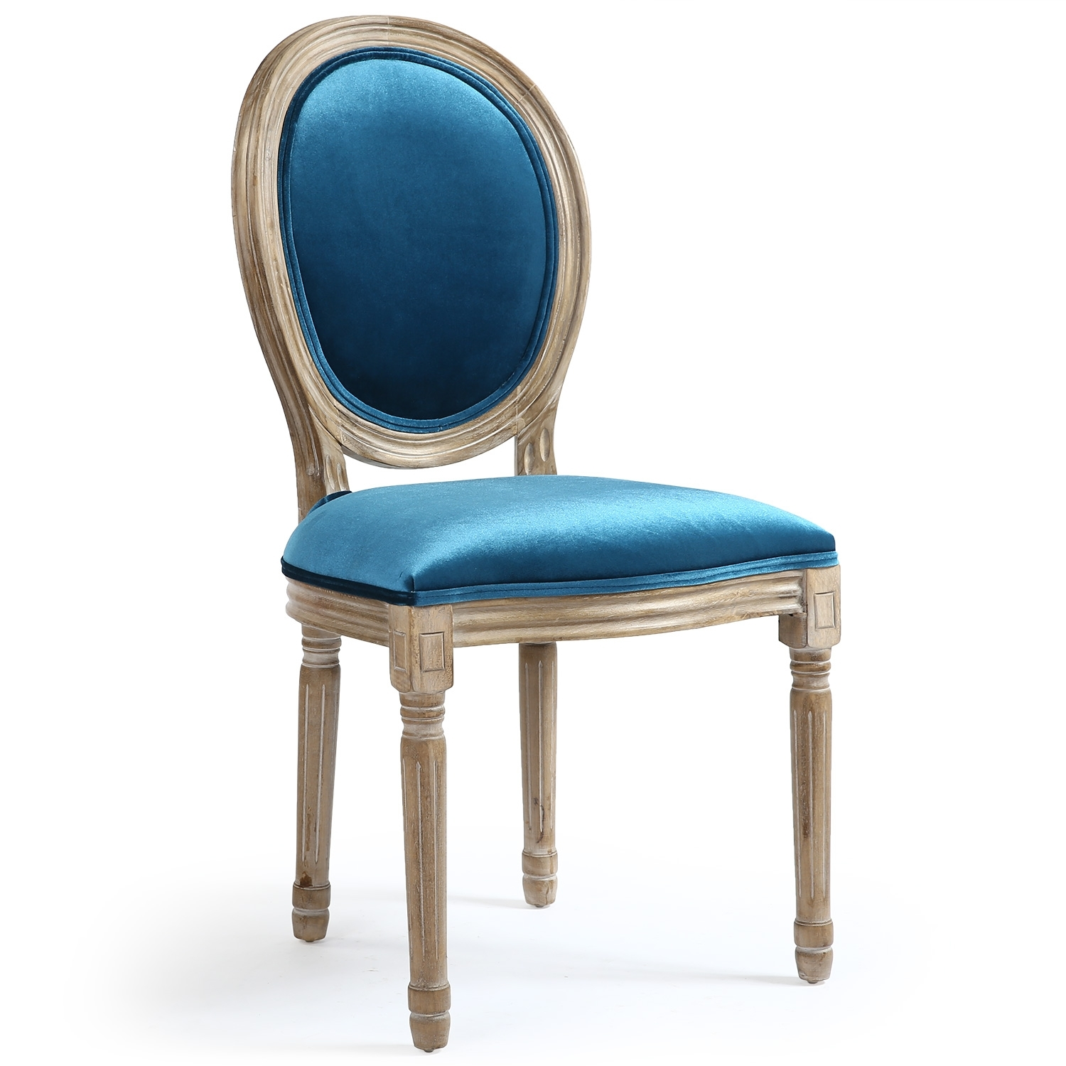 chaise m daillon bois et velours bleu louis xvi lot de 2. Black Bedroom Furniture Sets. Home Design Ideas