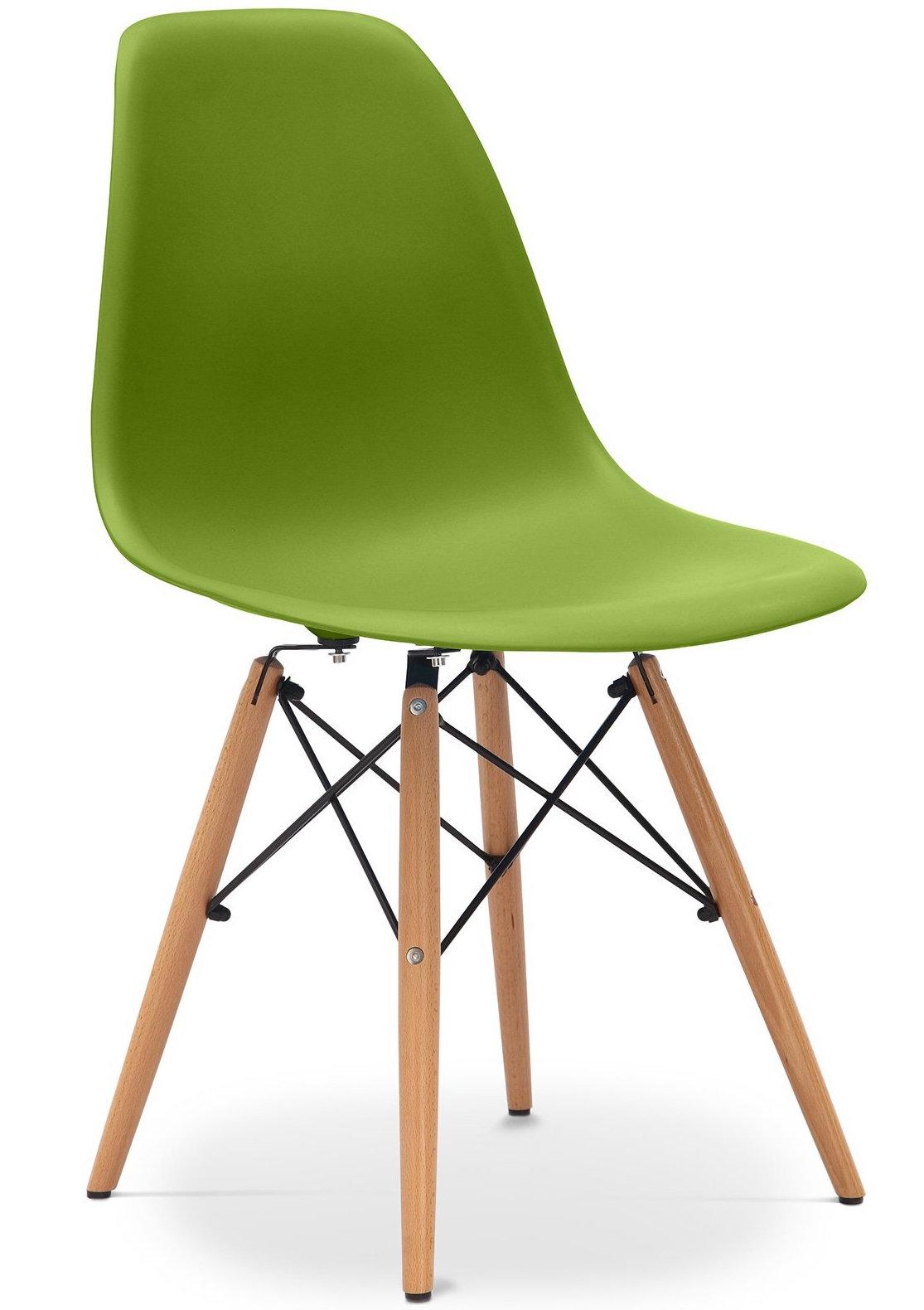 chaise olive mat pieds h tre clair inspir e dsw. Black Bedroom Furniture Sets. Home Design Ideas