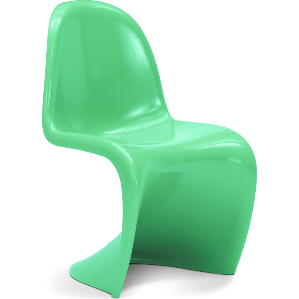 Chaise panton bakelite brillante vert clair for Chaise panton
