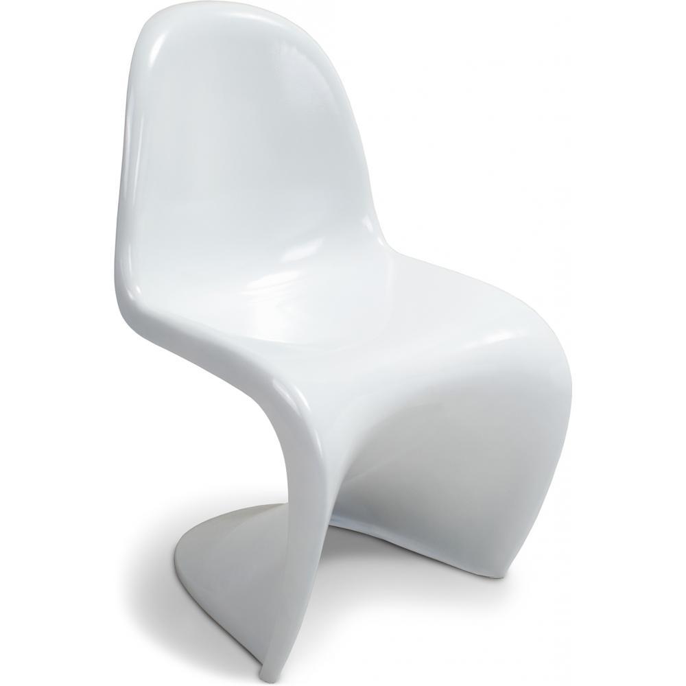 Chaise panton fibre de verre blanc - Chaise panton blanche ...
