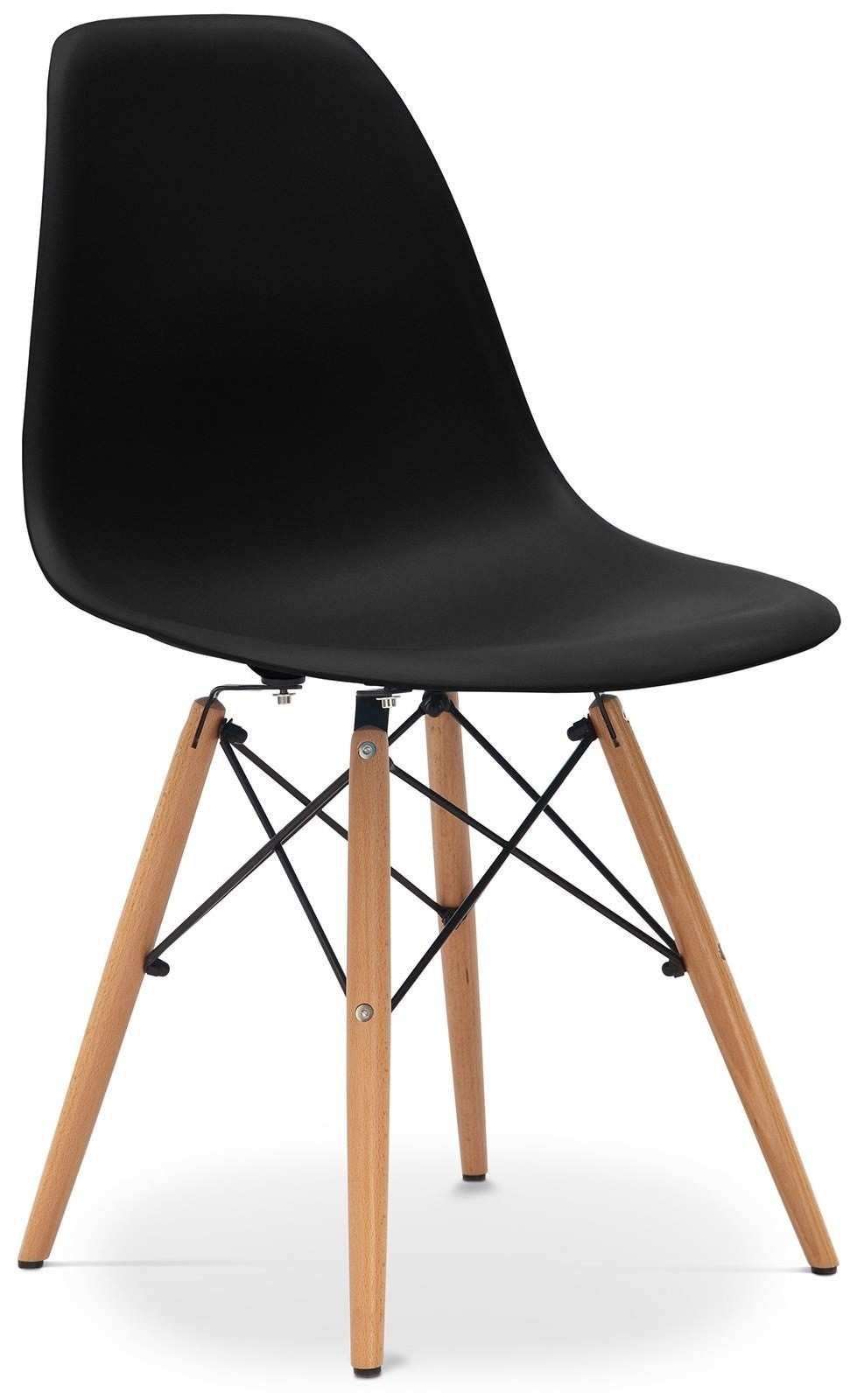 chaise polypropyl ne noire mat cassy lot de 4. Black Bedroom Furniture Sets. Home Design Ideas