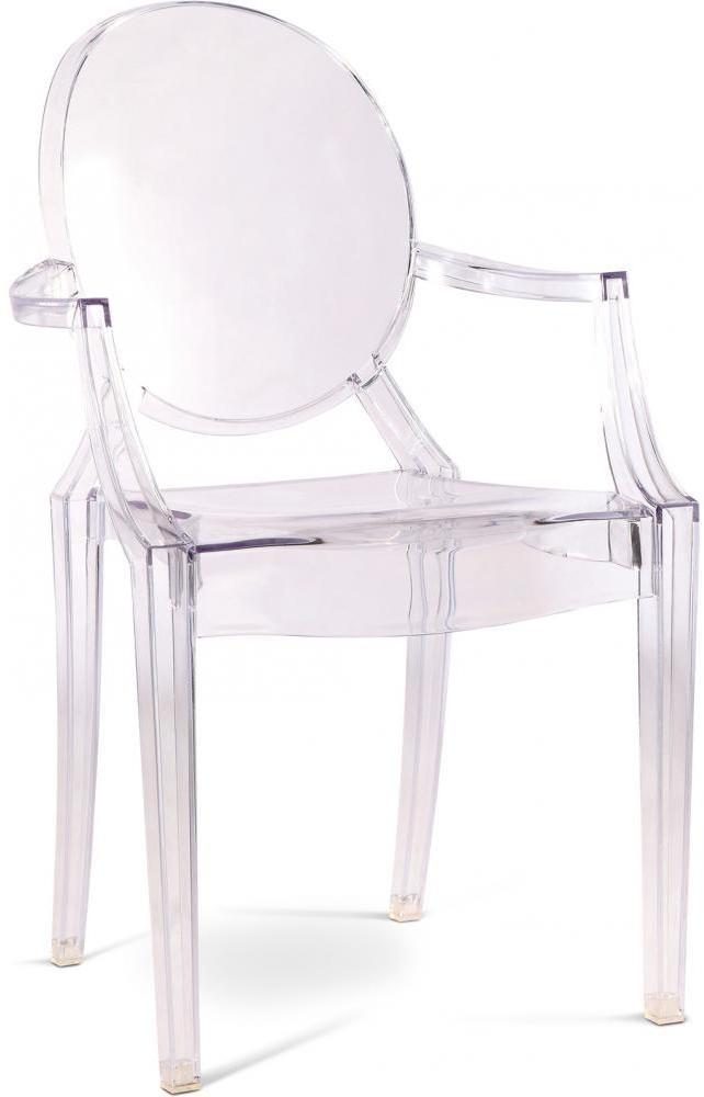 chaise polycarbonate transparent inspir louis ghost lot de 2. Black Bedroom Furniture Sets. Home Design Ideas