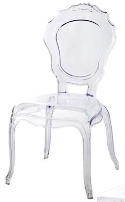 chaise polycarbonate transparente style louis xiv. Black Bedroom Furniture Sets. Home Design Ideas