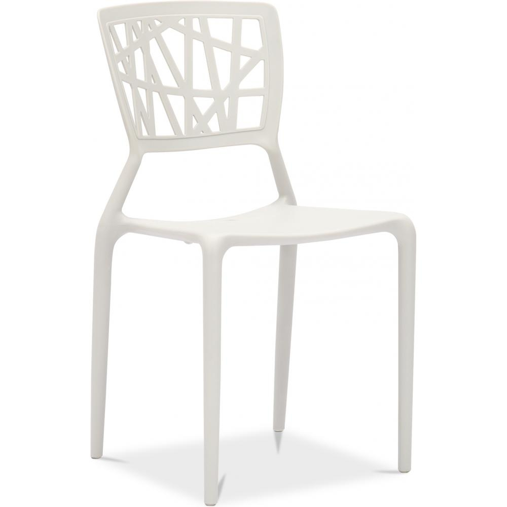 Chaise polypropylene blanche three for Chaises blanches de cuisine