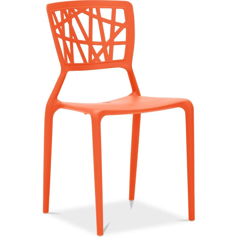 chaise polypropyl ne orange mat three. Black Bedroom Furniture Sets. Home Design Ideas