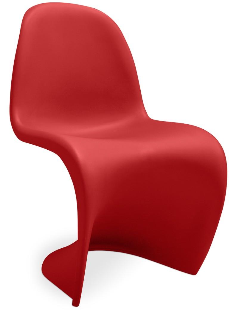 chaise polypropyl ne rouge mat inspir e panton. Black Bedroom Furniture Sets. Home Design Ideas