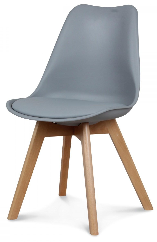Chaise scandinave gris Keny Lot de 2 |