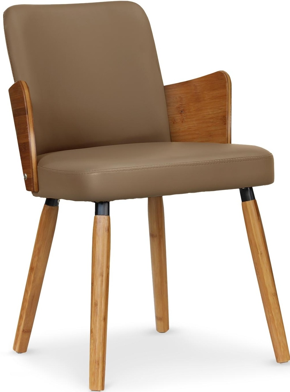 chaise scandinave naturel et taupe philippe lot de 2. Black Bedroom Furniture Sets. Home Design Ideas