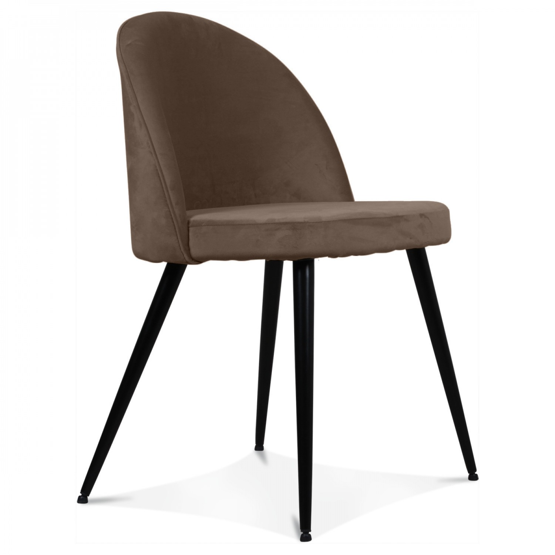 chaise velours taupe palace lot de 2. Black Bedroom Furniture Sets. Home Design Ideas