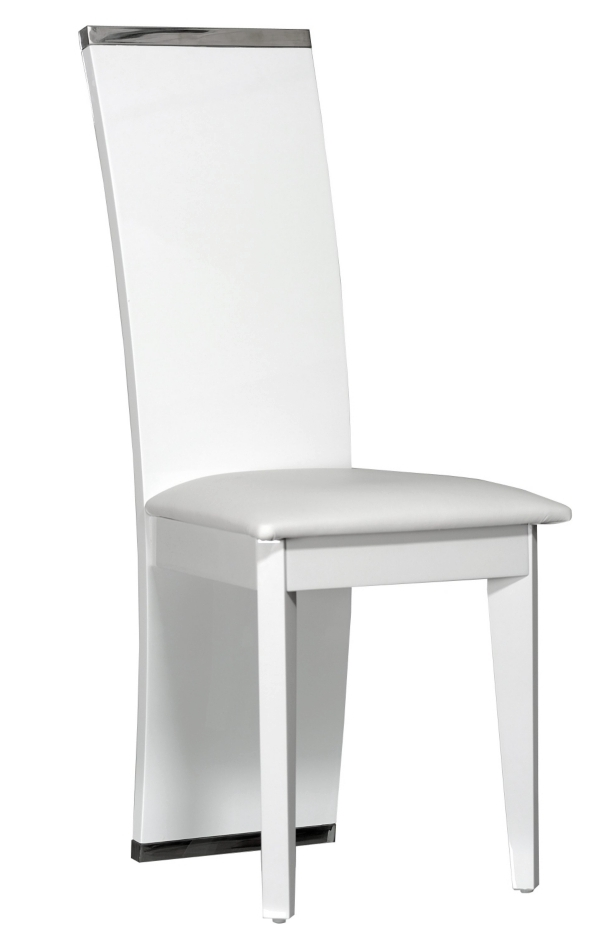 Chaise blanche laquee maison design for Chaise blanches