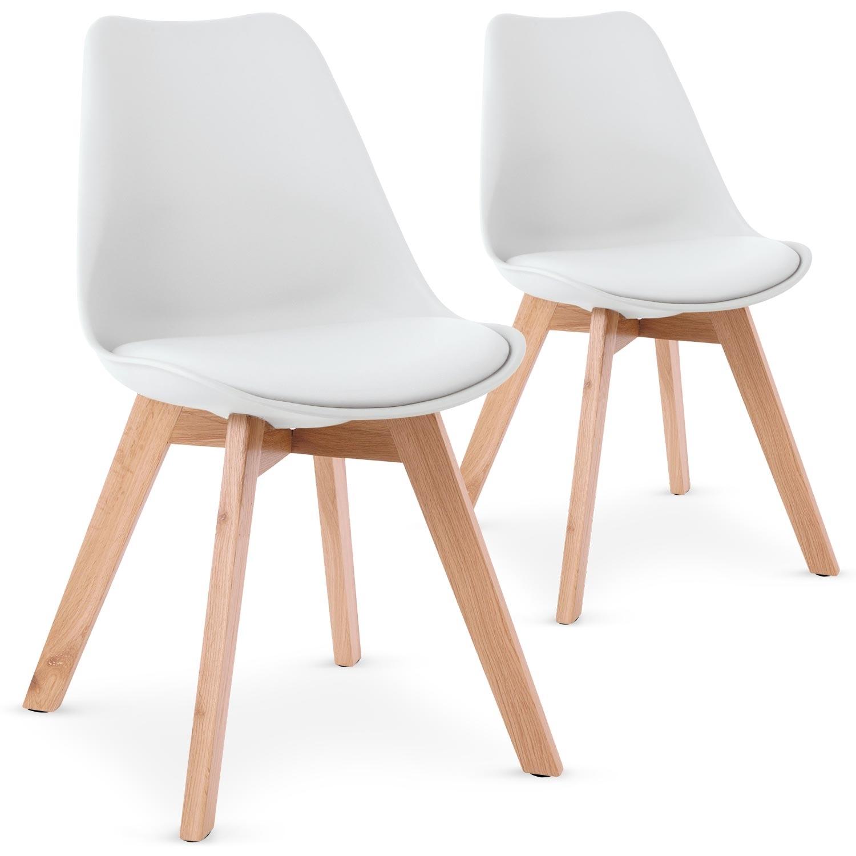 Valet De Chambre But : Les Tendances : Chaise blanche style scandinave Orna