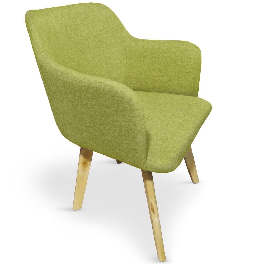 Chaise tissu pistache kandi for Chaise scandinave couleur