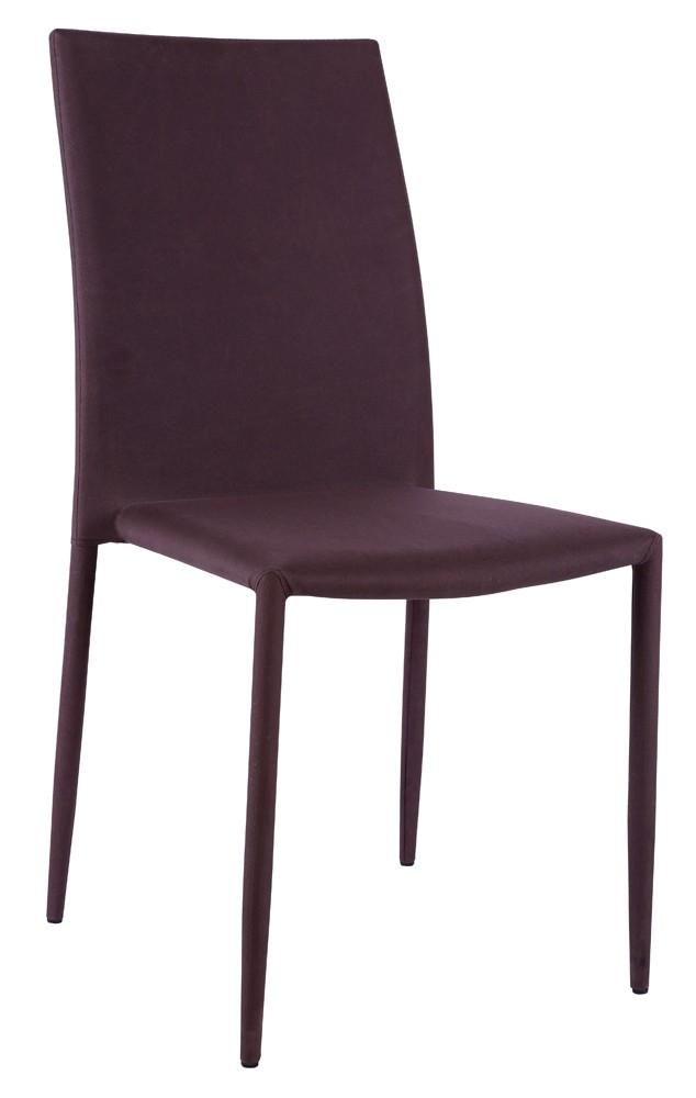 Chaise tissu marron vunka 4 for Chaise accoudoir tissu