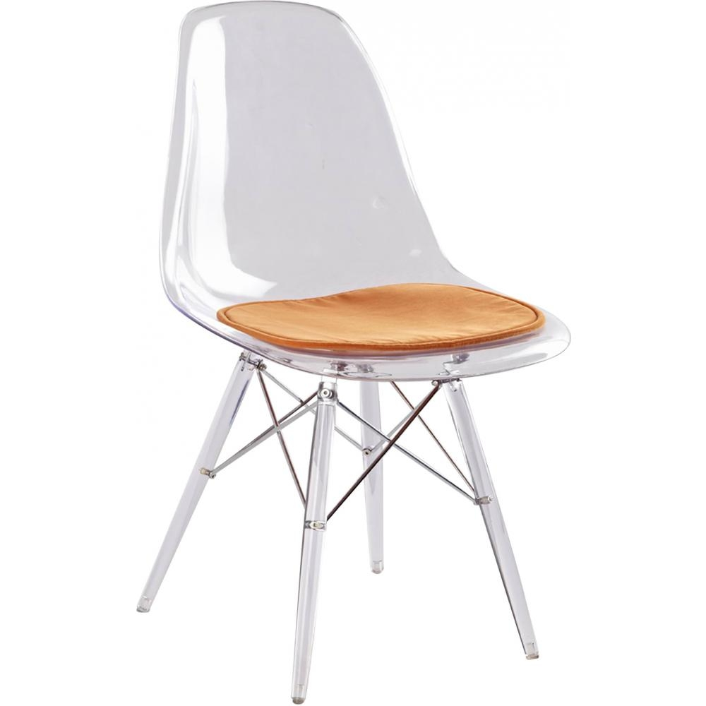 Souvent Chaise transparente assise Simili orange inspirée DSW  WJ12