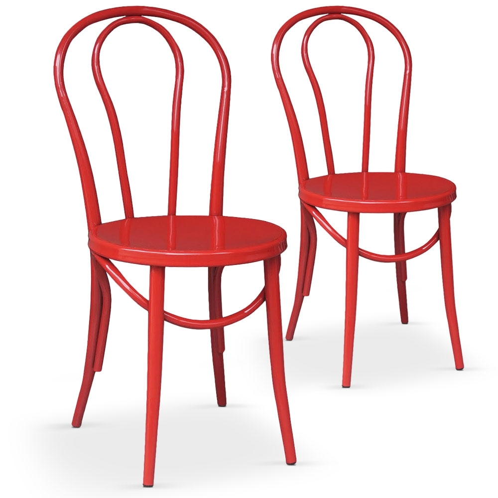 chaises bistrot rouge coste. Black Bedroom Furniture Sets. Home Design Ideas