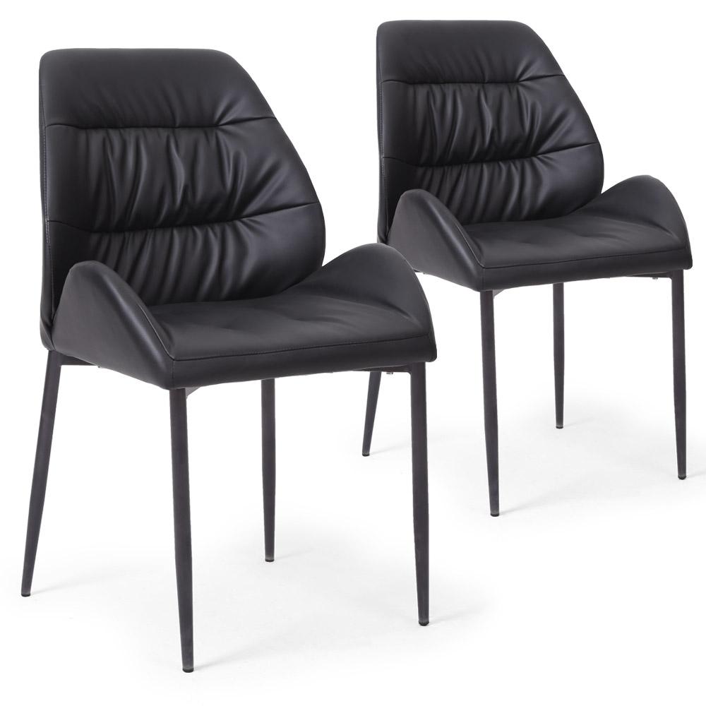Chaise simili noir prinsia for Chaise sejour noir