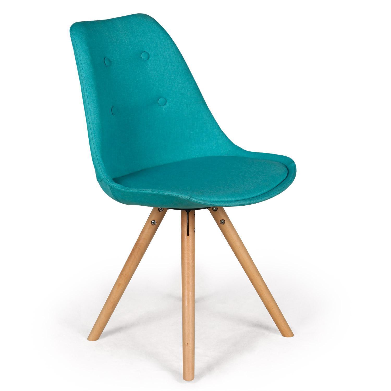 chaise scandinave bleu pino. Black Bedroom Furniture Sets. Home Design Ideas
