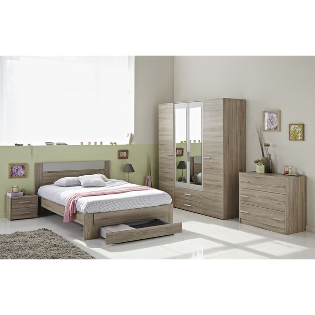 Chambre adulte bois naturel tweed for Chambre complete adulte en bois