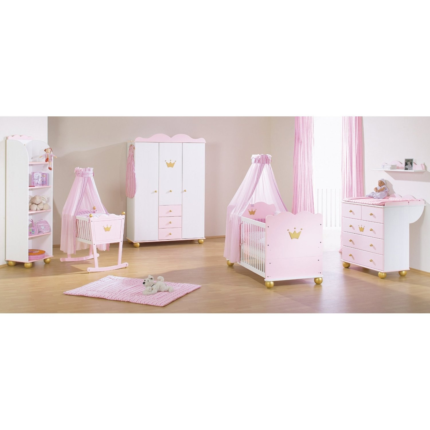 Chambre b b fille princesse caroline for Photo de chambre pour bebe fille
