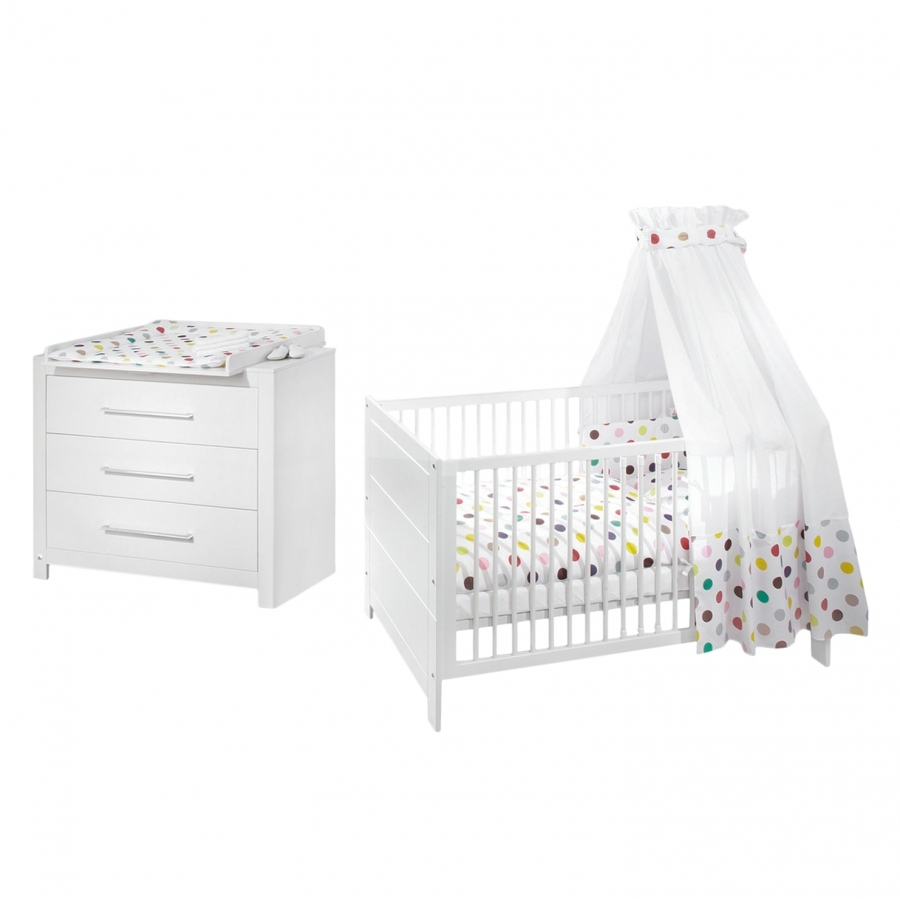 Chambre bebe lit commode maison design for Lit et commode adulte